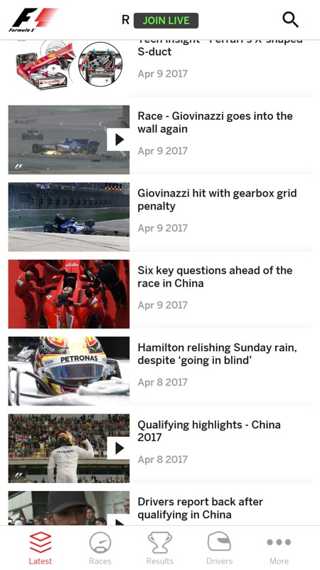 Screenshot, Formula 1 UWP