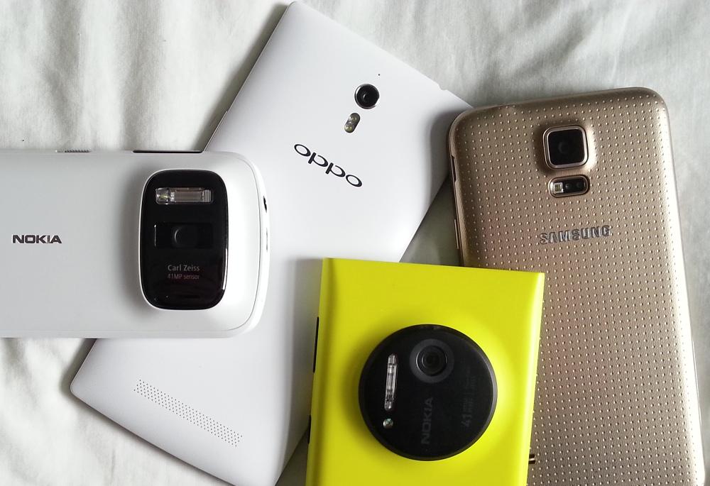 Lumia 1020, Oppo Find 7, Nokia 808, Samsung Galaxy S5