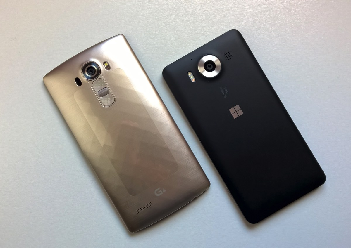 LG G4 and Lumia 950