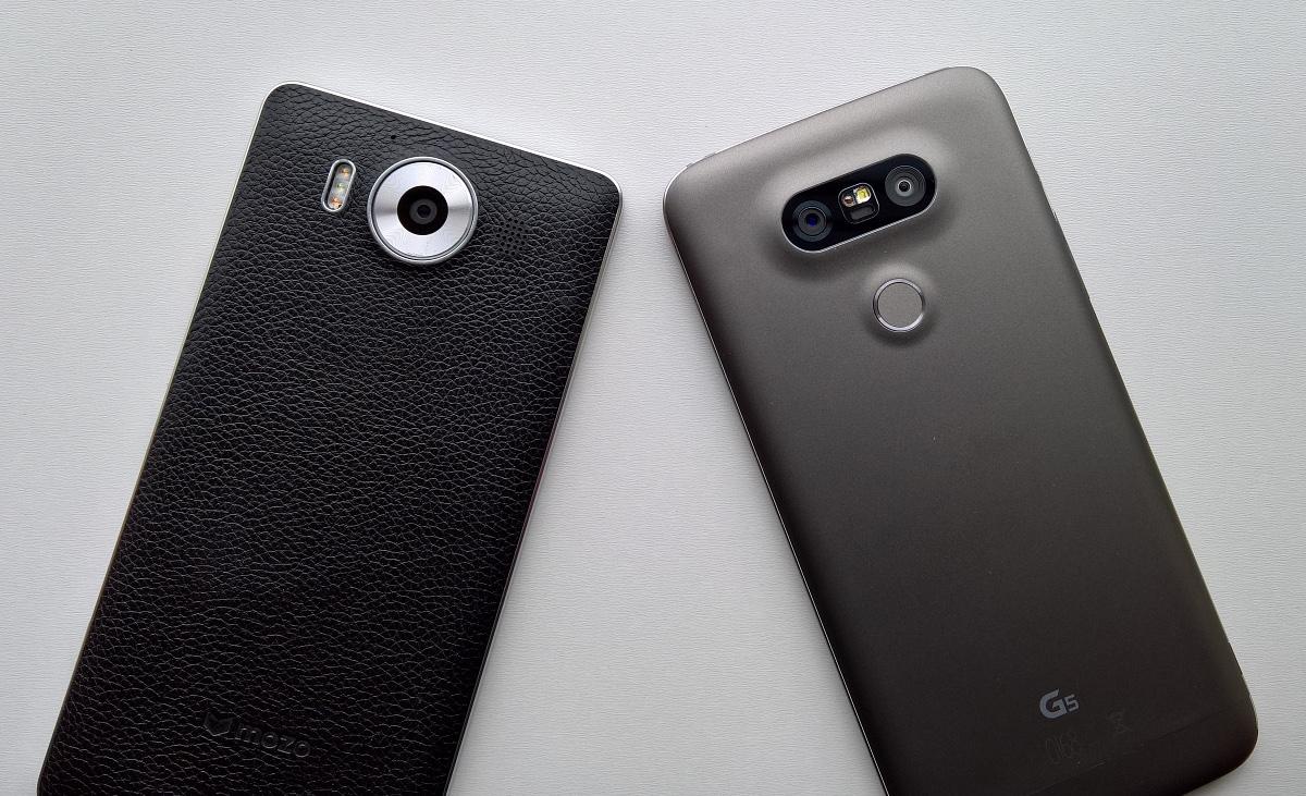 Lumia 950 and LG G5