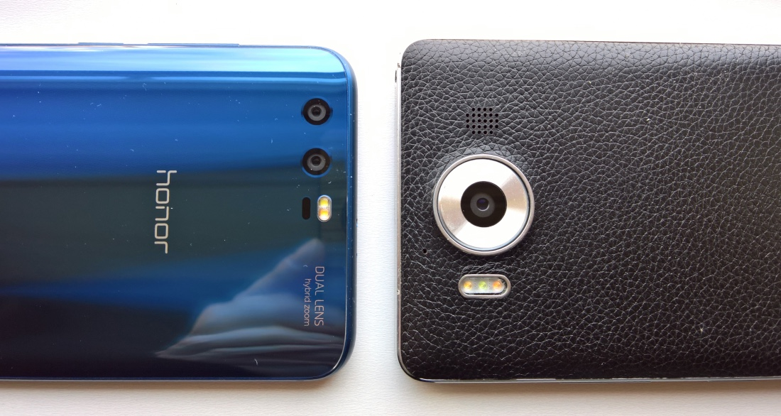Honor 9 and Lumia 950 cameras