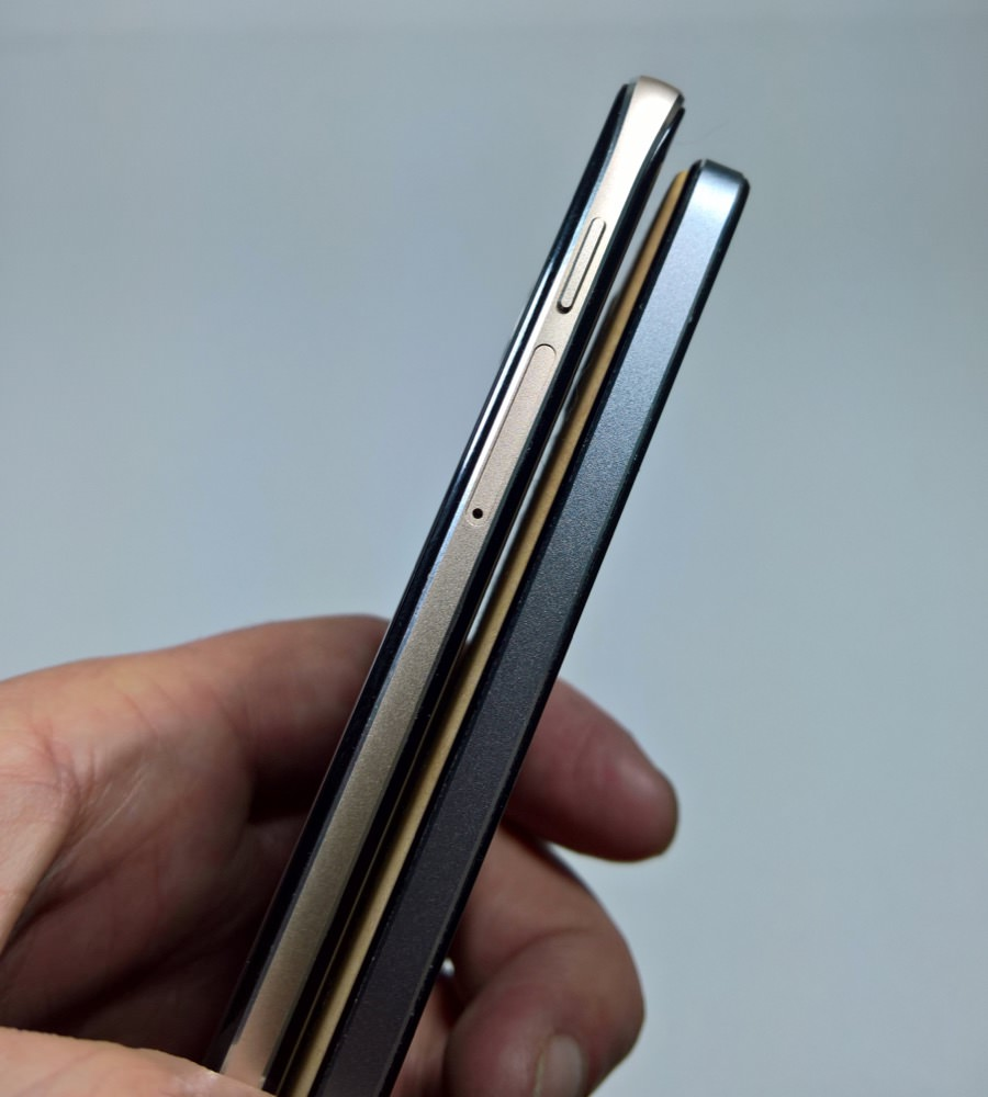 Comparing size and profile with the Lumia 650 - slightly longer and ...
