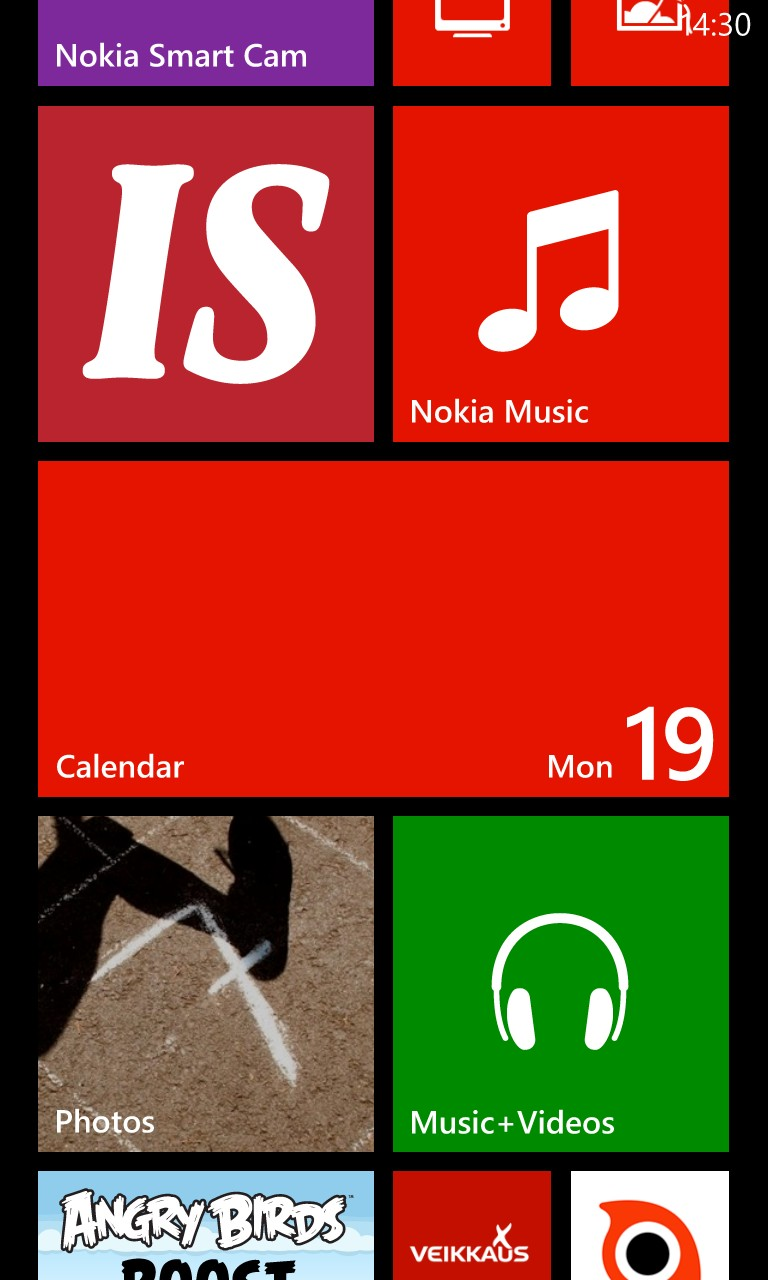 Screenshot, Windows Phone 8 GDR2 walkthrough