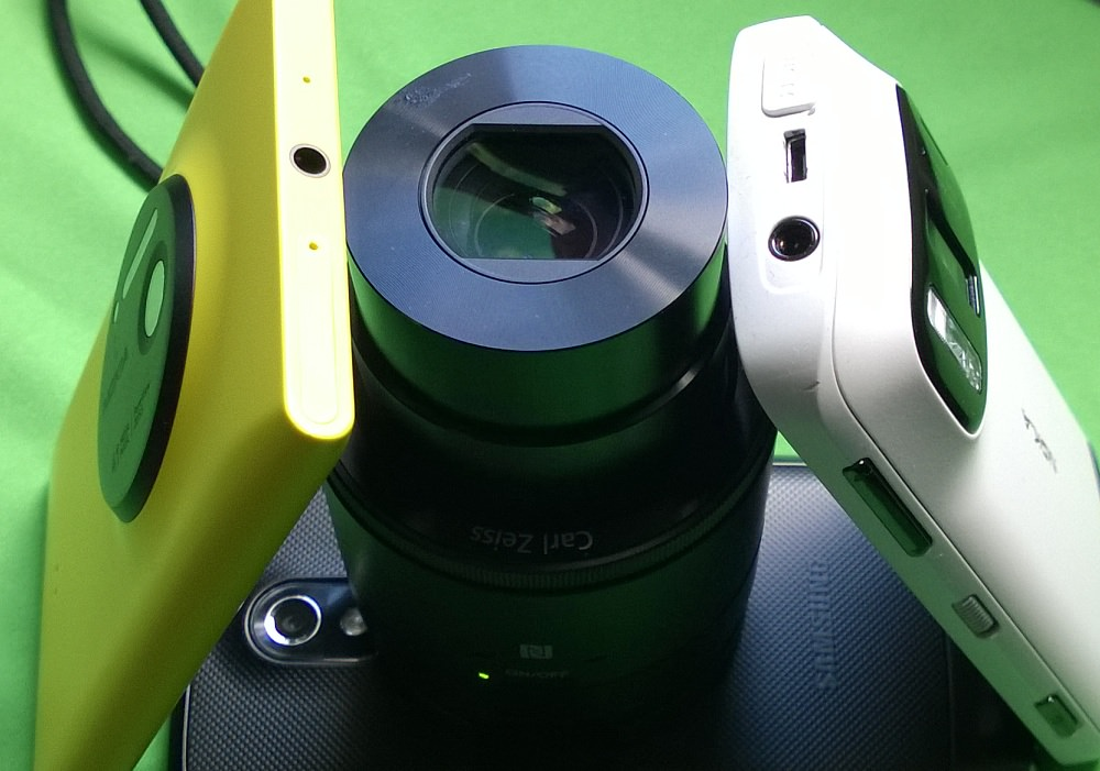 Lumia 1020, Sony QX-100 (on Galaxy Nexus) and Nokia 808