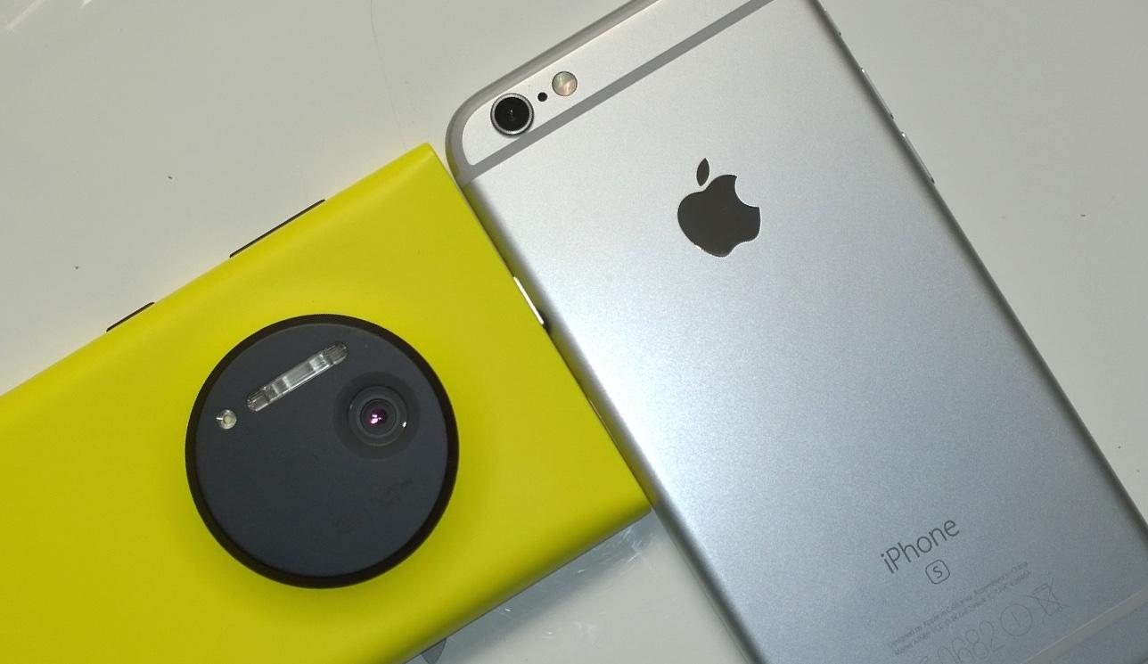 Lumia 1020 and iPhone 6s