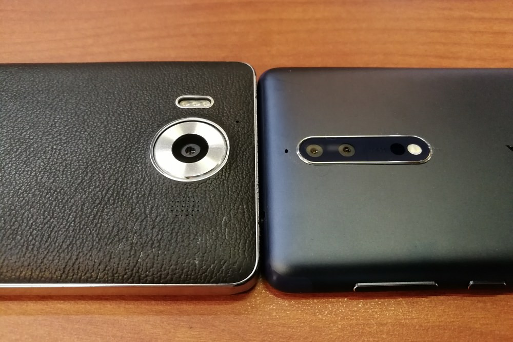 Lumia 950 and Nokia 8