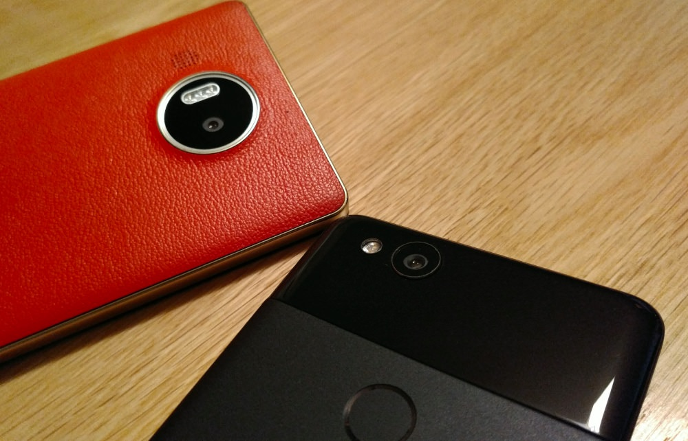 Lumia 950 XL and Pixel 2