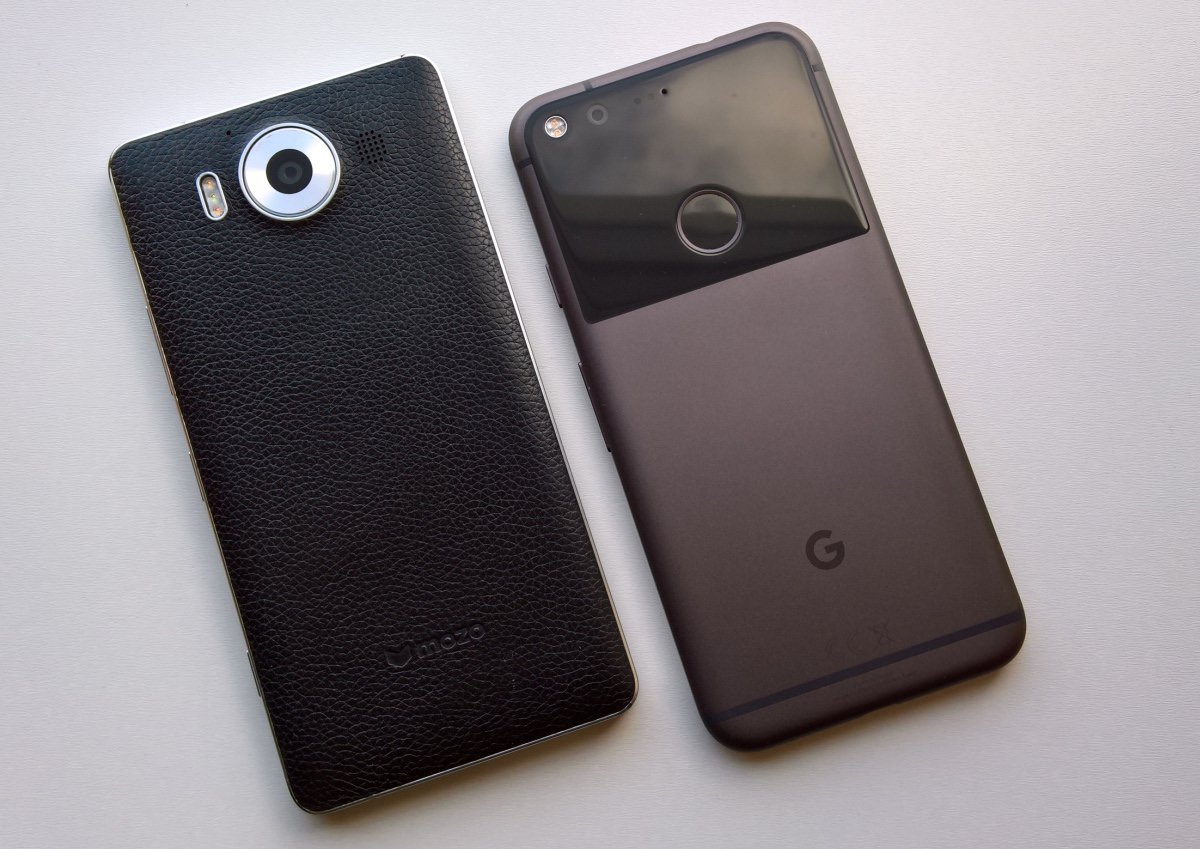 Lumia 950 and Google Pixel