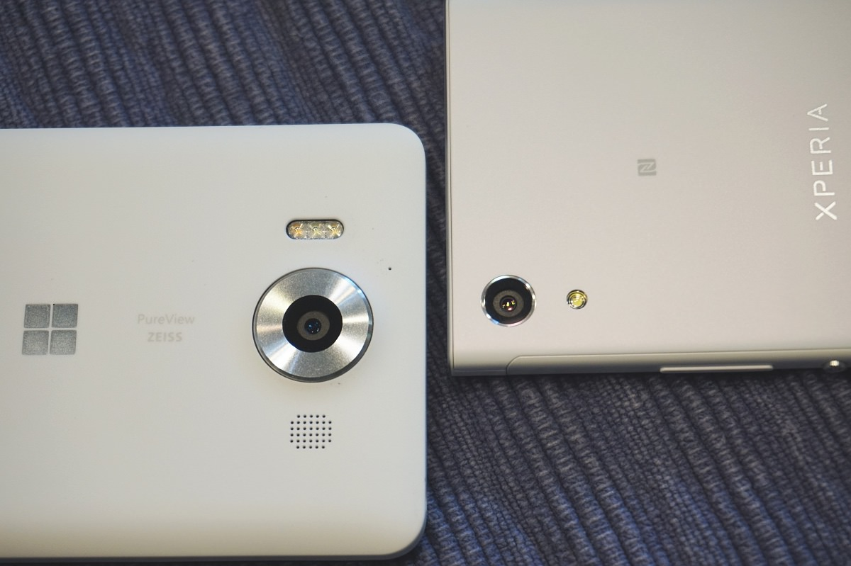 Lumia 950 and Sony XA1