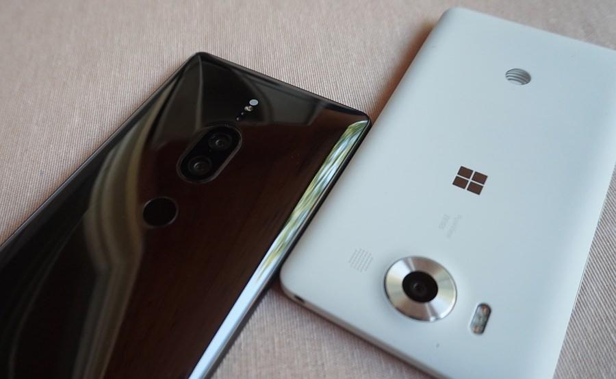Lumia 950 vs XZ2 Premium